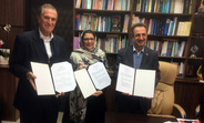 R – L : Dr. Anoushiravan Mohseni Bandpey, Deputy Minister and Head of State Welfare Organization/Ministry of Cooperatives, Labour and Social Welfare; Dr. Leila Joudane, UNFPA Representative in I.R. of Iran; Mr. Eduardo Klien, Regional Director of HelpAge